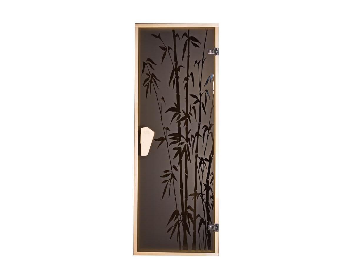 Дверь для бани и сауны Tesli Бамбуковый лес 1900 x 700 правая в Одессе