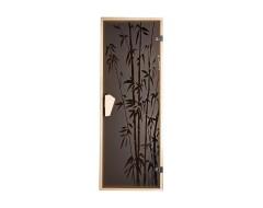 Дверь для бани и сауны Tesli Бамбуковый лес 1900 x 700 левая