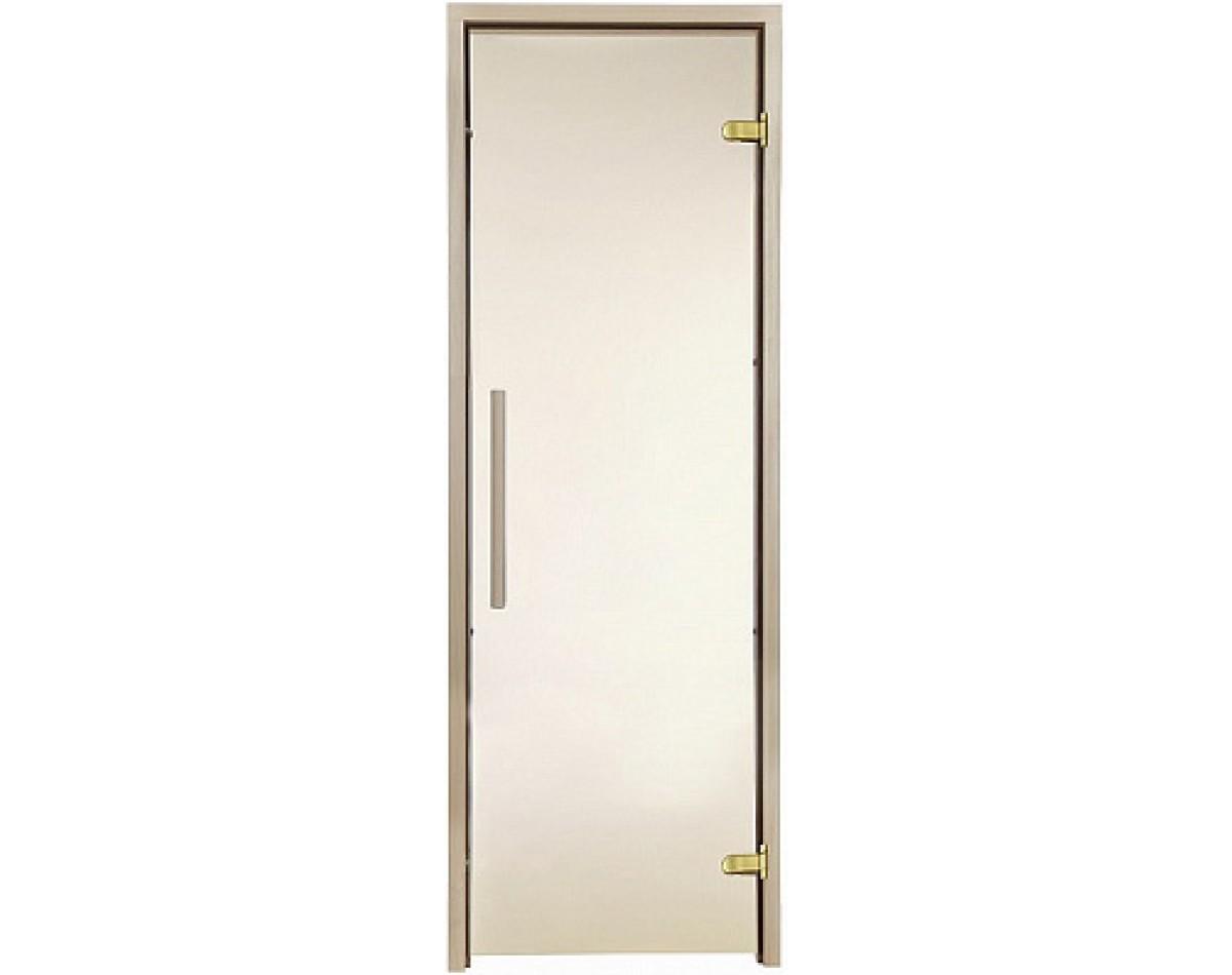 Дверь для бани и сауны GREUS Premium 1900 x 700 бронза