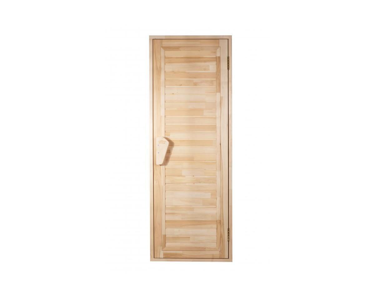Дверь для бани и сауны Tesli Зебра 1900 x 700 глухая в Одессе