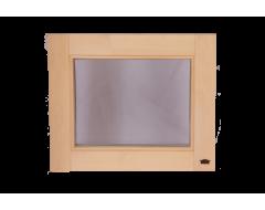 Окно для бани и сауны 600 х 500  глухое