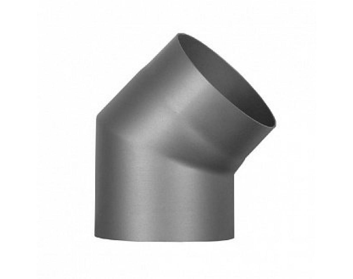 Колено 45 для дымохода  (черная сталь 09Г2Ф 2 мм)