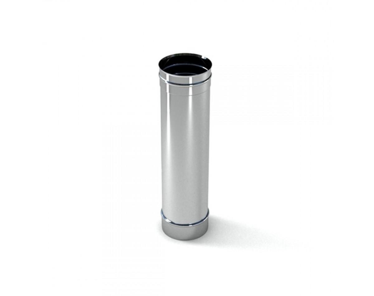 Труба 1 метр одностенный дымоход (нерж. сталь. AISI321 0,8 мм)