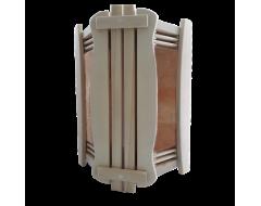 Ограждение светильника угловое с гималайской солью 2 плитки для бани и сауны