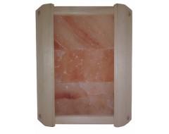 Ограждение угловое  с гималайской солью 3 плитки для бани и сауны