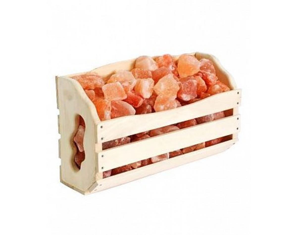 Полка с гималайской солью 10 кг для бани и сауны